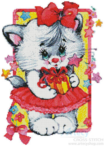 cross stitch pattern Party Cat