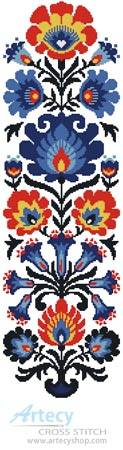 cross stitch pattern Polish Folk Art Design 1