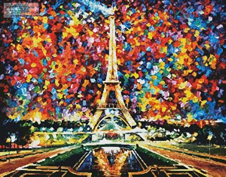 cross stitch pattern Paris of My Dreams