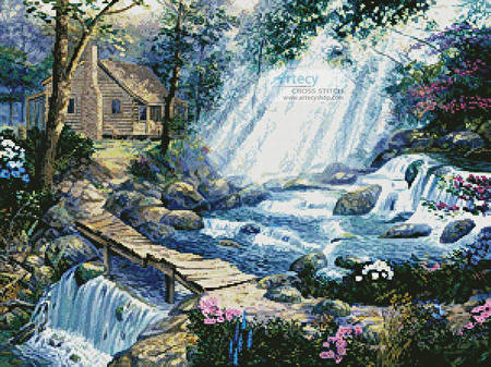 cross stitch pattern A Path well Chosen