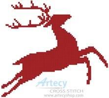 cross stitch pattern Reindeer Stencil