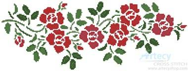 cross stitch pattern Rose Garland