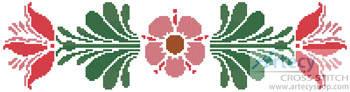 cross stitch pattern Rosemaling