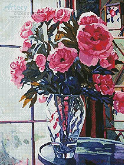 cross stitch pattern Rose Symphony