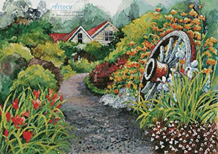 cross stitch pattern Rustic Gardens