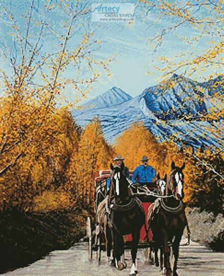 cross stitch pattern Sierra Stagecoach