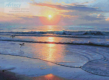 cross stitch pattern Serenity Beach