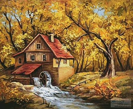 cross stitch pattern Storybook Cottage