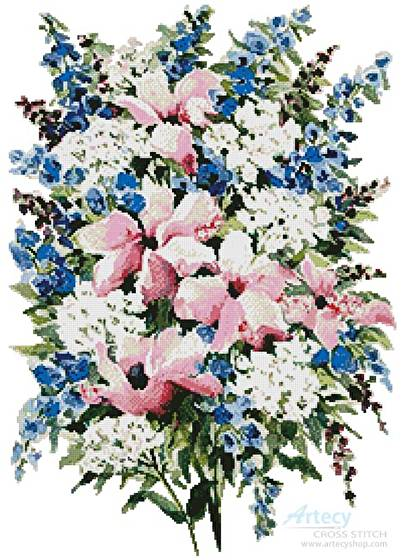 cross stitch pattern Summer Bouquet