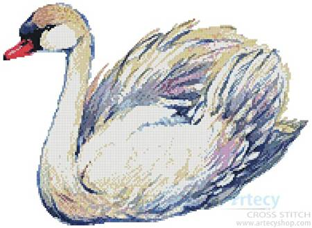 cross stitch pattern Swan Drawing