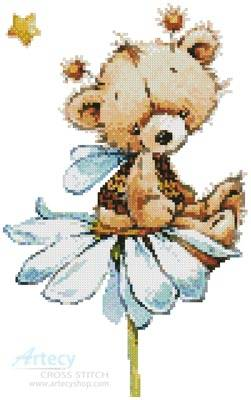 cross stitch pattern Teddy Bee