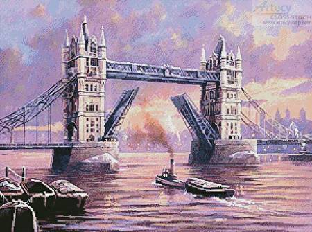 cross stitch pattern Tower Bridge Painting