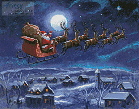 cross stitch pattern Twas the Night Before Christmas