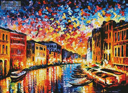 cross stitch pattern Venice Grand Canal