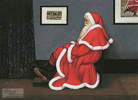 cross stitch pattern Whistler's Father Christmas