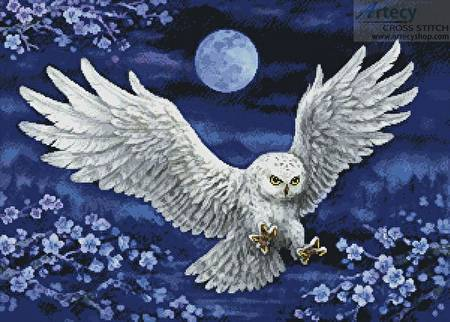 cross stitch pattern White Owl