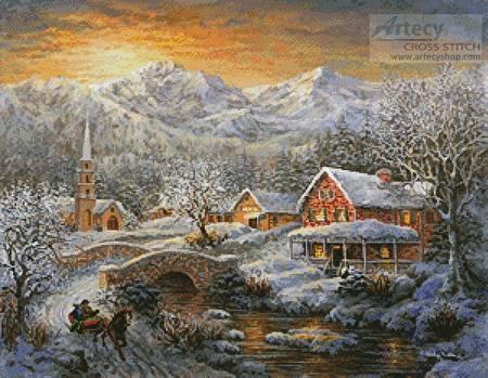 cross stitch pattern Winter Merriment