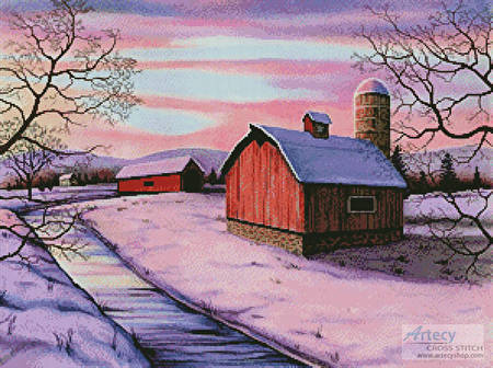 cross stitch pattern Winter in New England