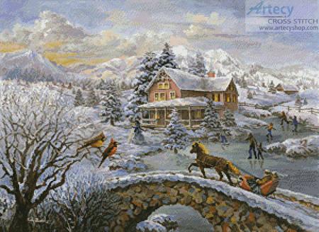 cross stitch pattern Winter Joy