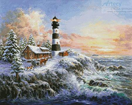 cross stitch pattern Winter Majesty