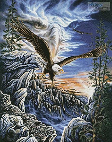 cross stitch pattern 10 Eagles