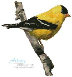 cross stitch pattern American Gold Finch