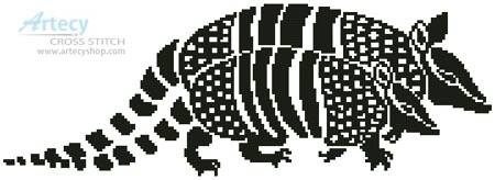 cross stitch pattern Armadillos