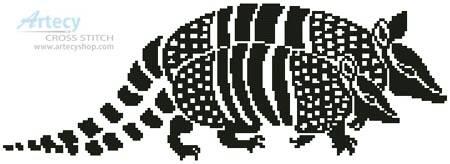 cross stitch pattern Armadillos