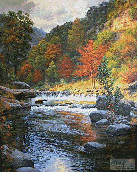 cross stitch pattern Autumn Serenity (Large)