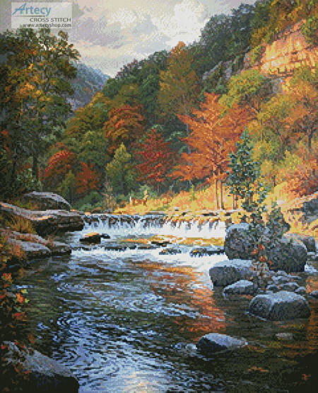 cross stitch pattern Autumn Serenity