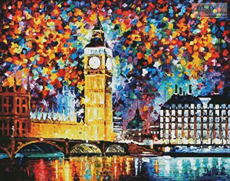 cross stitch pattern Big Ben, London
