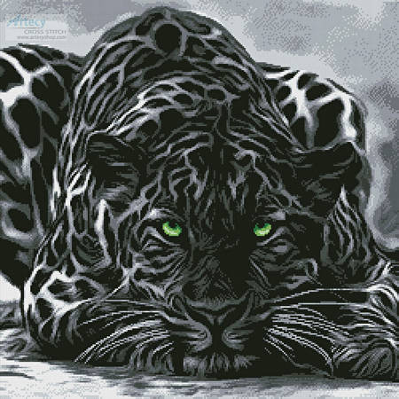 cross stitch pattern Black Leopard