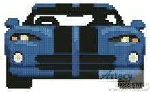 cross stitch pattern Blue Viper