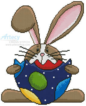 cross stitch pattern Bunny and Egg