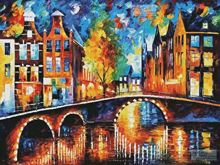 cross stitch pattern The Bridges of Amsterdam (Large)