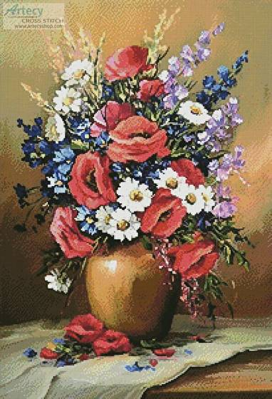 cross stitch pattern Bouquet of Field Flowers