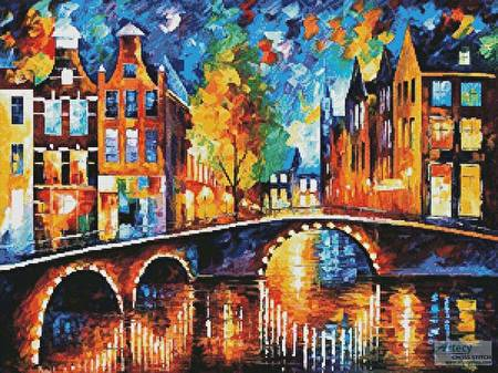 cross stitch pattern The Bridges of Amsterdam