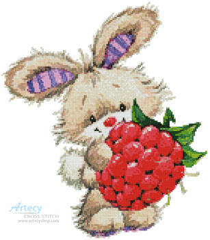 cross stitch pattern Berry Cute Rabbit