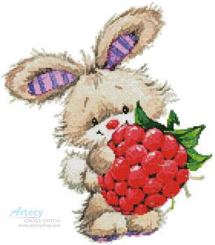cross stitch pattern Berry Cute Rabbit