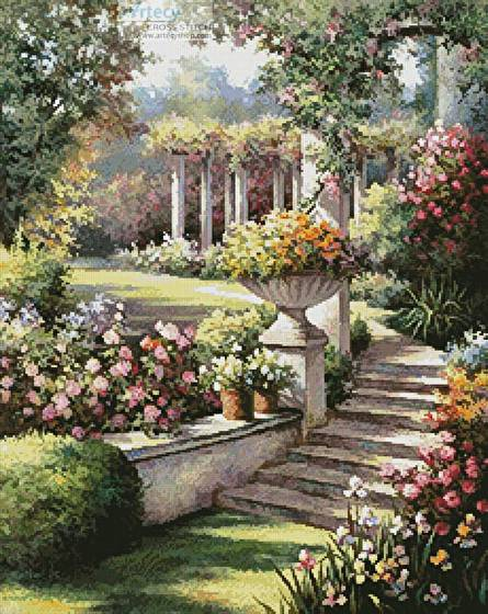 cross stitch pattern Beautiful Garden