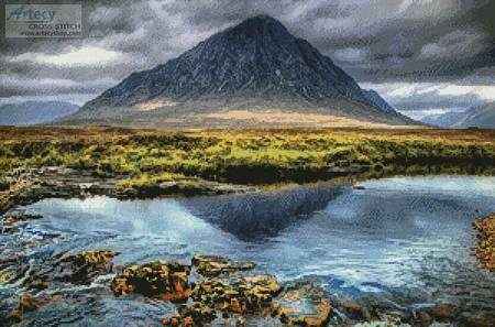 cross stitch pattern Buachaille Etive Mor Glencoe