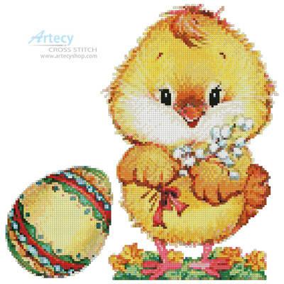 cross stitch pattern Chick and Egg