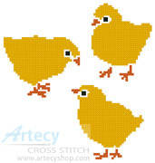 cross stitch pattern Chicks