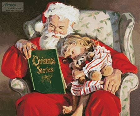 cross stitch pattern Christmas Stories