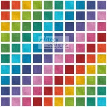 cross stitch pattern Coloured Square