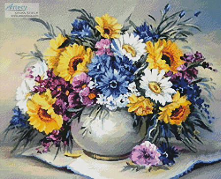 cross stitch pattern Colourful Bouquet