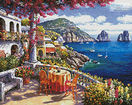 cross stitch pattern Capri Morning