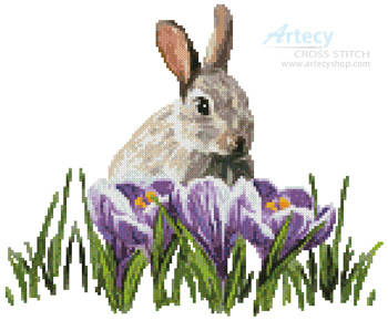 cross stitch pattern Crocus Bunny
