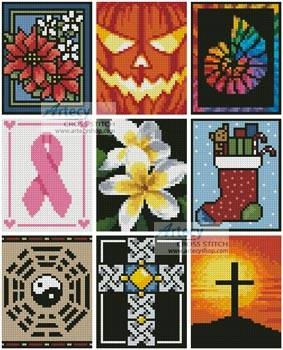 cross stitch pattern Cross Stitch Card Collection 2