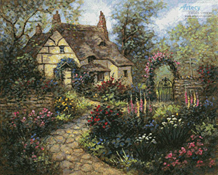 cross stitch pattern Cottage Garden